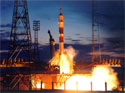 Launch at Baikonur Cosmodrome
