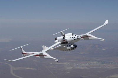 SpaceShipOne boven op Whiteknight
