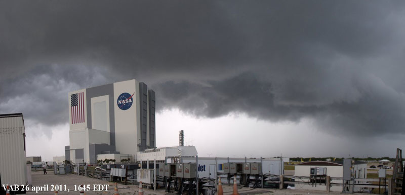 Clouds above KSC